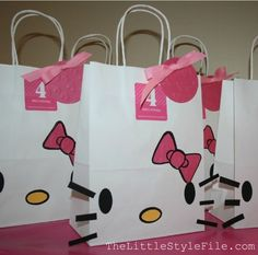 Hello Kitty DIY bags-idea for Kids party Adrienne?