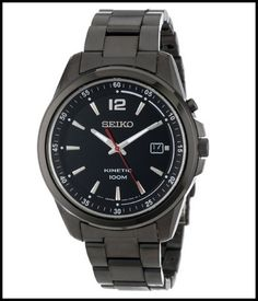 seiko men s ska605 kinetic black ion plated stainless steel watch review graciouswatch com