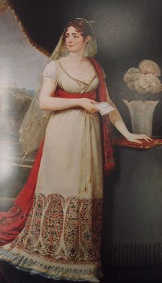 Great blog post on Shawl Dresses and Dresses Made from Shawls 1800-1815