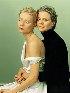 gwenneth paltrow and blythe danner by annie leibowitz