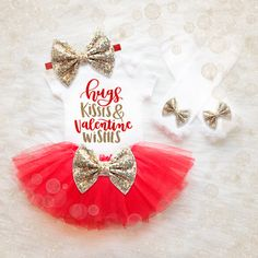 Bebé niña San Valentín vestir niña por RitzAndGlitzBoutique