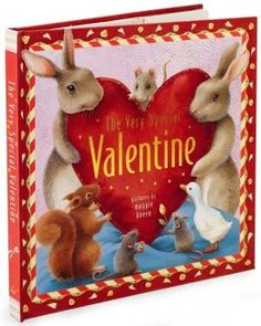 """""""The Very Special Valentine,"""" by Maggie Kneen. This is a flap book with surprises on every page which help tell the story. Bunny Gray is looking for a Valentine's Day gift for his friend, but when he spots a sparkly object it that looks promising, it turns out to be something ordinary, like dew drops clinging to a spider web. Fortunately, his special friend, Rosie, reminds him that love is more important than flashy gifts."""