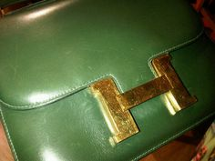 Incredible #Constance bag from #hermes green calfbox