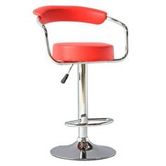 Fine Mod Imports Smart Barstool in Red