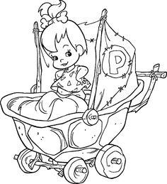 Free Printable Cartoons | The Flintstones - Pebbles