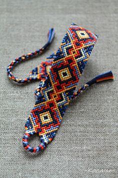 Daybreak by Kaname-Kirito on DeviantArt Diy Friendship Bracelets Patterns, Diy Bracelets Easy, Thread Bracelets, Bracelet Crafts, Cute Bracelets, Ankle Bracelets, Micro Macramé, Diy Schmuck, Bracelet Tutorial
