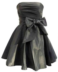 short black prom dresses | Black mini prom dresses with bow.