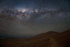 Paranal beneath the Milky Way  This is stunning proof of the night sky's clarity in the Chilean Atacama Desert. It is this clarity which makes this the perfect site for ESO's Very Large Telescope (VLT) which can be seen on the 2600-metre-high Cerro Paranal as part of the Paranal Observatory in the distance, dwarfed by the Milky Way above.
