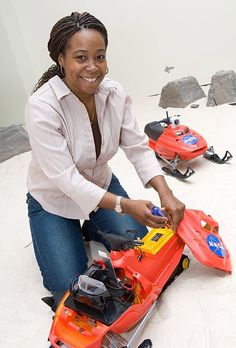 Ayanna Howard, robot scientist, is an American robot scientist who's been named one of the top young innovators in the world. One of her most notable contributions to science is designing robots that study the impact of global warming on Antarctic ice shelfs. Howard interned at NASA's Jet Propulsion Laboratory, and ended up working there for several years before moving to her current position as a robotics professor at Georgia Institute of Technology.