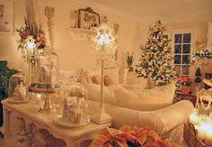 shabby chic Christmas room