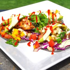 Barbecue Rock Fish Rainbow Tacos~ Try these out the next time you have a family gathering or weekend barbeque.