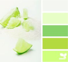 Chartreuse (Farbpassnummer 25) Limettengrün (Farbpassnummer 26), Apfelgrün (27), Grasgrün (28) Kerstin Tomancok / Farb-,Typ-, Stil & Imageberatung