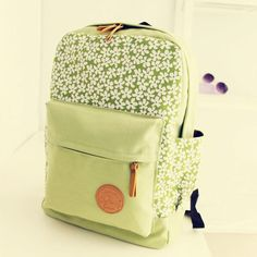 Latest Floral Printed Canvas Backpack