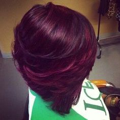 25 Trendy hair color ideas for brunettes burgundy website Burgundy Hair, Purple Hair, Pretty Hairstyles, Bob Hairstyles, Short Hair Styles, Natural Hair Styles, Bob Styles, Beautiful Hair Color, Simply Beautiful