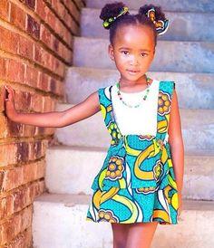 Jolie girl style #African #print #dress