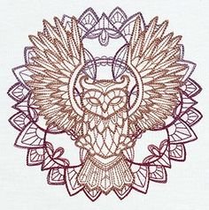Anima - Owl | Urban Threads: Unique and Awesome Embroidery Designs