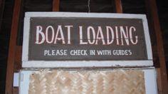 new jungle cruise garage boat loading sign