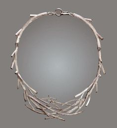 "Necklace | Susan Hamlet.  ""Winter Branches"".  Sterling silver."