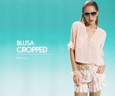 Em Alta / Blusa Cropped