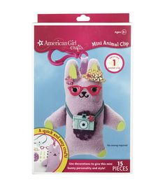 American Girl Mini Animal Clip Kit-Bunny