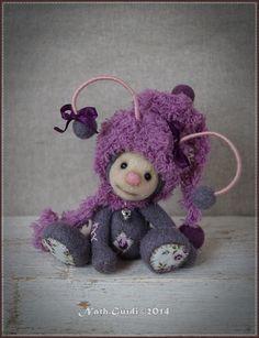 Etsy - Shop for handmade, vintage, custom, and unique gifts for everyone Cute Teddy Bears, Paperclay, Soft Dolls, Felt Art, Felt Ornaments, Cute Dolls, Felt Animals, Handmade Toys, Felt Crafts