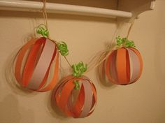 Perfect idea to make Fall-themed birthday garland using party colors