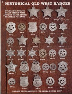 Image detail for -OLD WEST BADGES Solid Brass Austin, Texas Rangers Law Enforcement, Old Western Towns, Fantasy Female Warrior, Leather Tooling Patterns, Sheriff Badge, Police Humor, Real Cowboys, Costumes