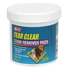 Excel  8-in-1 Tear Stain Remover Pads, 90-count