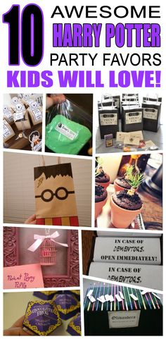 Great harry potter party favors kids will love. Fun and cool harry potter birthday party favor ideas for children. Easy goody bags, treat bags, gifts and more for boys and girls. Get the best harry potter birthday party favors any child would love to take http://www.giftideascorner.com/birthday-gifts-ideas