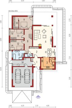 House Layout Plans, Duplex House Plans, Bungalow House Plans, House Layouts, Building Design, Building A House, Country Modern Home, Architectural House Plans, Minimalist Home