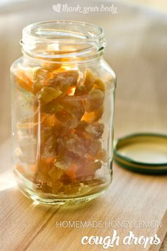 Feeling sick? Studies show that honey fights a cough better than OTC cough syrup. Try these yummy homemade honey lemon cough drops with ginger!