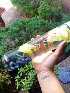 Nothing is more perfect for fruit infused water than reusing Voss water bottles!