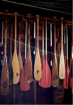 "Camp Fernwood paddle pad...randomly found this on already on pinterest with the caption ""vintage oars for decoration""?!"