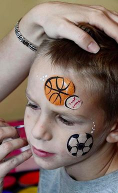 130 Sports Ideas Face Painting Face Painting Designs Face Painting For Boys