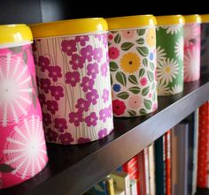 How to transform old formula bins into pretty storage for art and craft supplies