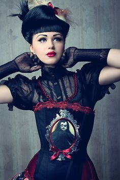 Gothic Dark Victorian Gothic Fashion goth gothic style fashion girl women https://www.facebook.com/alternativestylepolska