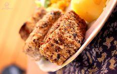 Tofu smażone w orzechach włoskich Tofu, Banana Bread, Desserts, Fit, Tailgate Desserts, Deserts, Shape, Postres, Dessert