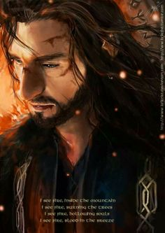 Young Prince Thorin ~ I see fire by brilcrist
