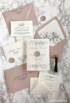 Rose Gold Vellum Wedding invitations with the most unique watercolor floral designs! Prefect for spr Rose Gold Vellum Wedding invitations with the most unique watercolor floral designs! Prefect for spr,Einladungen & Karten Related posts:rustikal. Gold Invitations, Unique Wedding Invitations, Floral Invitation, Elegant Wedding Invitations, Wedding Invitation Cards, Wedding Stationery, Wedding Cards, Wedding Signs, Rose Gold Invites