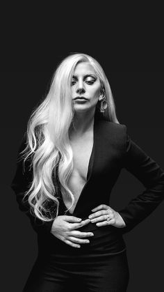 Imagen de Lady gaga and black and white