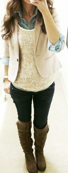 Create this look with CAbi's Needle Lace Shell and Lemon Zest Blazer or Occasional Jacket.
