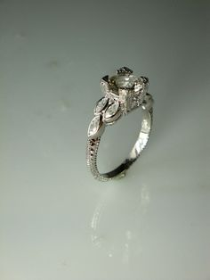 Herkimer Diamond Engagement Ring and White Topaz by greengem, $175.00