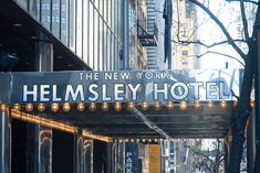 The New York Helmsley Hotel. Perfect location, on 42nd Street close to Grand Central Station.
