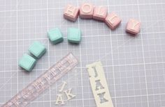 Alphabet cutters - Cake decorating tools