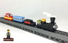 https://flic.kr/p/AUBhZ2 | Micro Train | Of course now that I've built this small train, I now must build a mega-mini-diorama to go along with it..