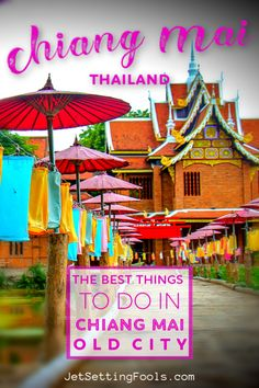 The 5 Best Things To Do in Chiang Mai Old City, Thailand - Jetsetting Fools Travel Guides, Travel Tips, Travel Destinations, Things To Do, Good Things, Backpacking Asia, Amazing Adventures, Old City, Chiang Mai