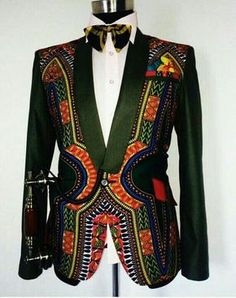 etsy Dashiki Mens Jacket with waist coat, African dashiki suit, dashiki for men… African Inspired Fashion, African Print Fashion, Africa Fashion, Fashion Prints, Fashion Design, Ankara Fashion, African Prints, African Fabric, African Attire