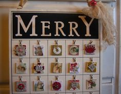 Bingo Advent Calendar Kit by UnderTheRedRoof on Etsy