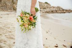 Gorgeous coral and white roses beach wedding bouquet Beach Wedding Bouquets, Wedding Flowers, Wedding Beach, Wedding Dresses, Big Sur California, California Destinations, Pebble Beach, White Roses, Destination Wedding
