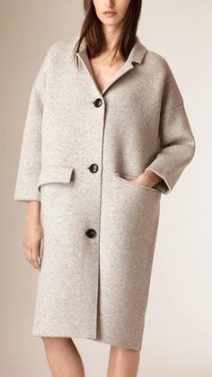 Burberry Oversize Wool Cashmere Cardigan Coat